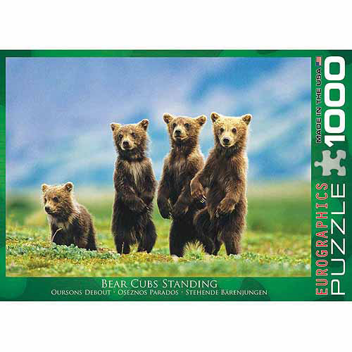 EuroGraphics Bear Cubs Standing 1000-Piece Puzzle