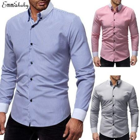 - Men´s Formal Long Sleeve Full Collar Wing Double Cuff Wedding Suit Dress Shirt