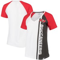 Product Image Tampa Bay Buccaneers Majestic Women s The Highlight V-Neck T- Shirt - White  56e6a1a7b