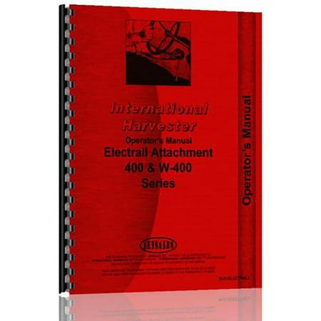 New International Harvester Electric Generator Attach. Operator + Parts (Electric Manual Generator)