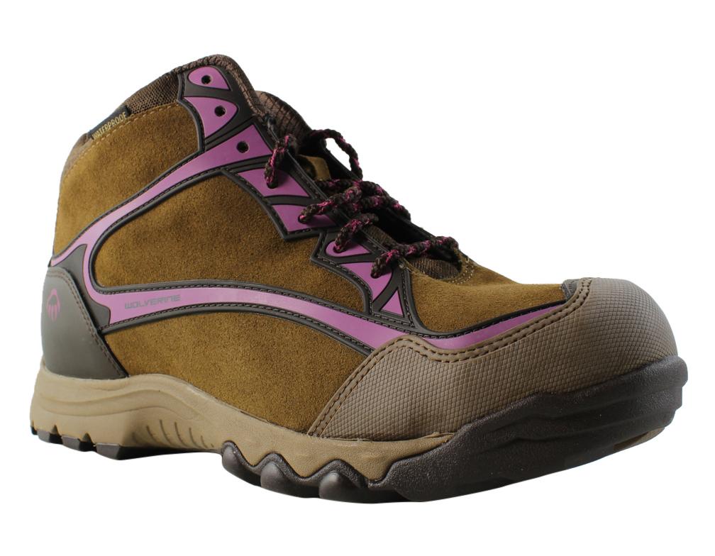 New Wolverine Womens Fairmontsteeltoehiker-W Brown Hiking Boots Size 10 Wide (C, by Wolverine