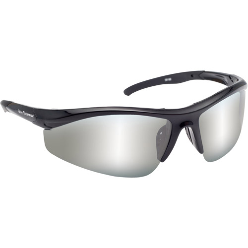Flying Fisherman Spector Sunglasses, Black Frame with Smoke and Silver Lenses