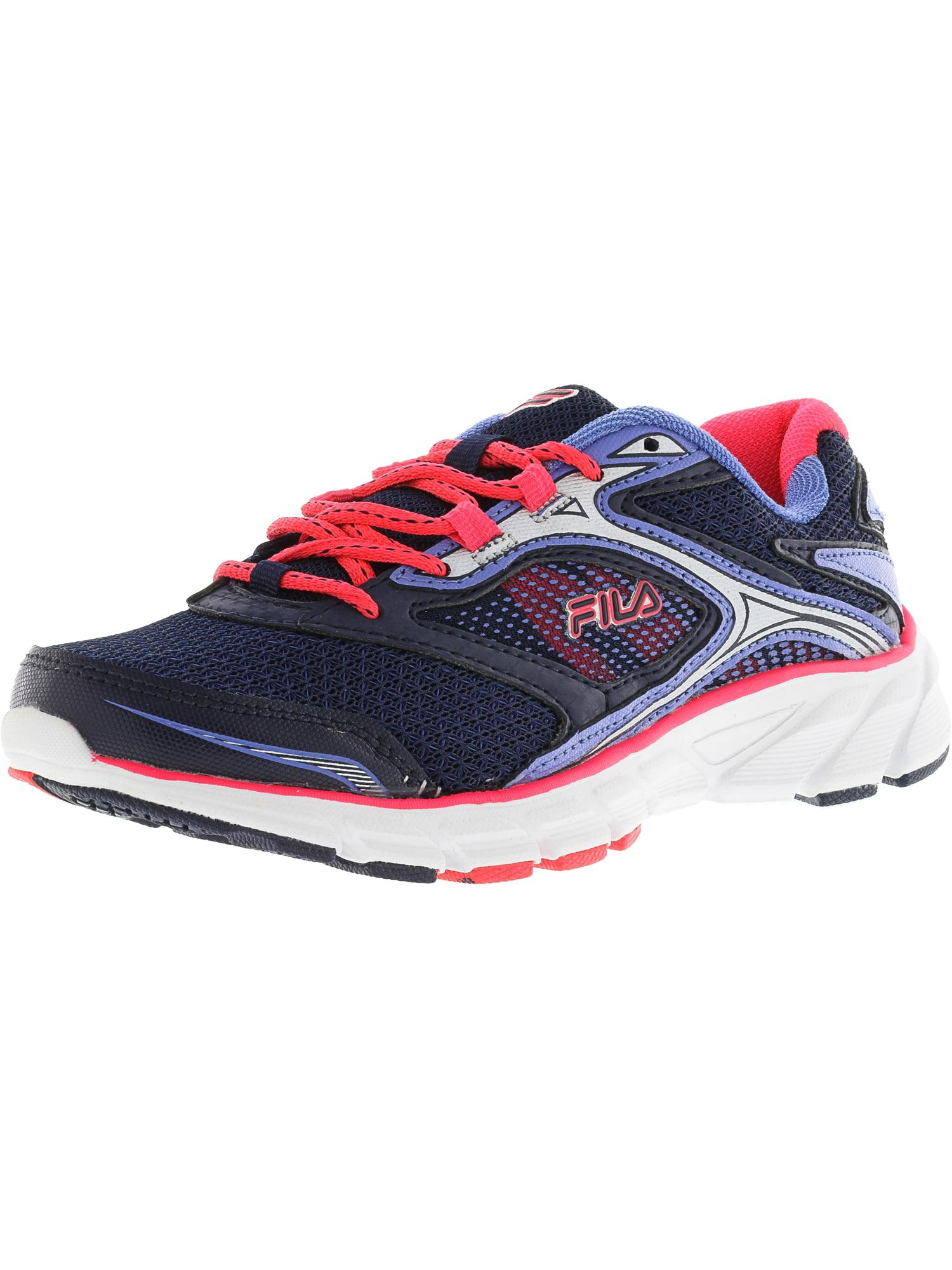 Fila Women's Stir Up Navy / Diva Pink Wedgewood Ankle-High Running Shoe - 8M