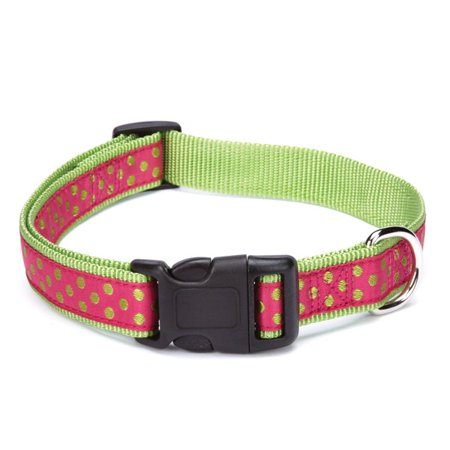 East Side Collection Polka Dot Collar 10-16in Pnk