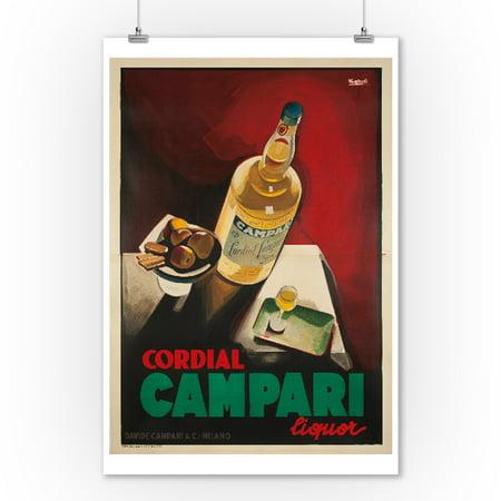 Italy   Cordial Campari    Artist  Nizzoli C  1926    Vintage Advertisement  9X12 Art Print  Wall Decor Travel Poster