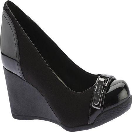 d32f2dba8d Anne Klein - Womens Anne Klein Sport Tamarow Wedge Pumps, Black -  Walmart.com