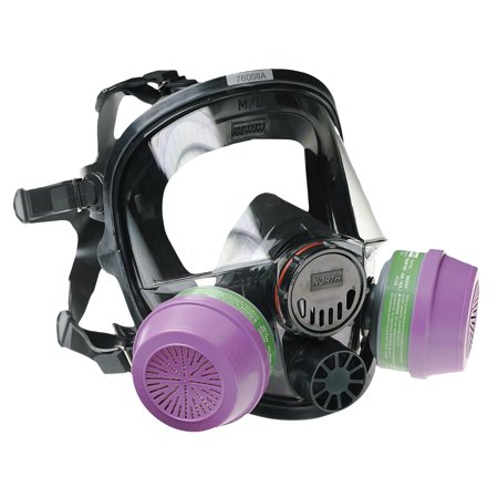 North by Honeywell 7600 Series Silicone Full Facepiece Respirators, -