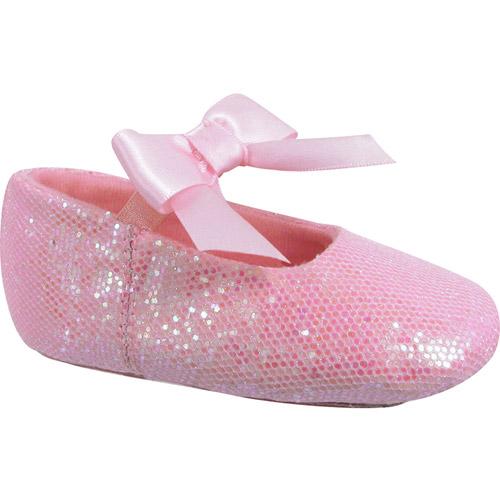 Dance Class by Trimfoot Girl's Toddler Beginner Sparkle Ballet Shoe