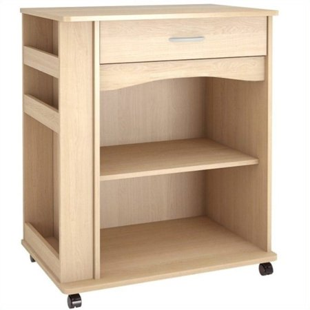 Atlin Designs Microwave Cart in Natural Maple
