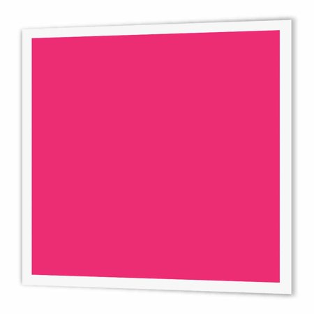 Summer Heat Transfer (3dRose Hot pink - plain simple one solid color - girly bright vibrant neon tropical summery summer pink, Iron On Heat Transfer, 8 by 8-inch, For White Material )