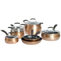 Epicurious 11Pc Cookware Set Non-stick Aluminum Copper