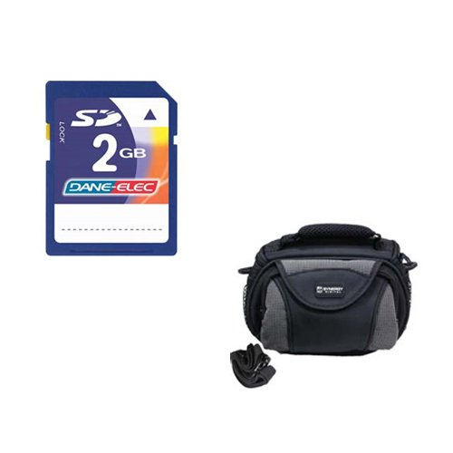 Panasonic HC-V110 Camcorder Accessory Kit includes: KSD2GB Memory Card, SDC-26 Case