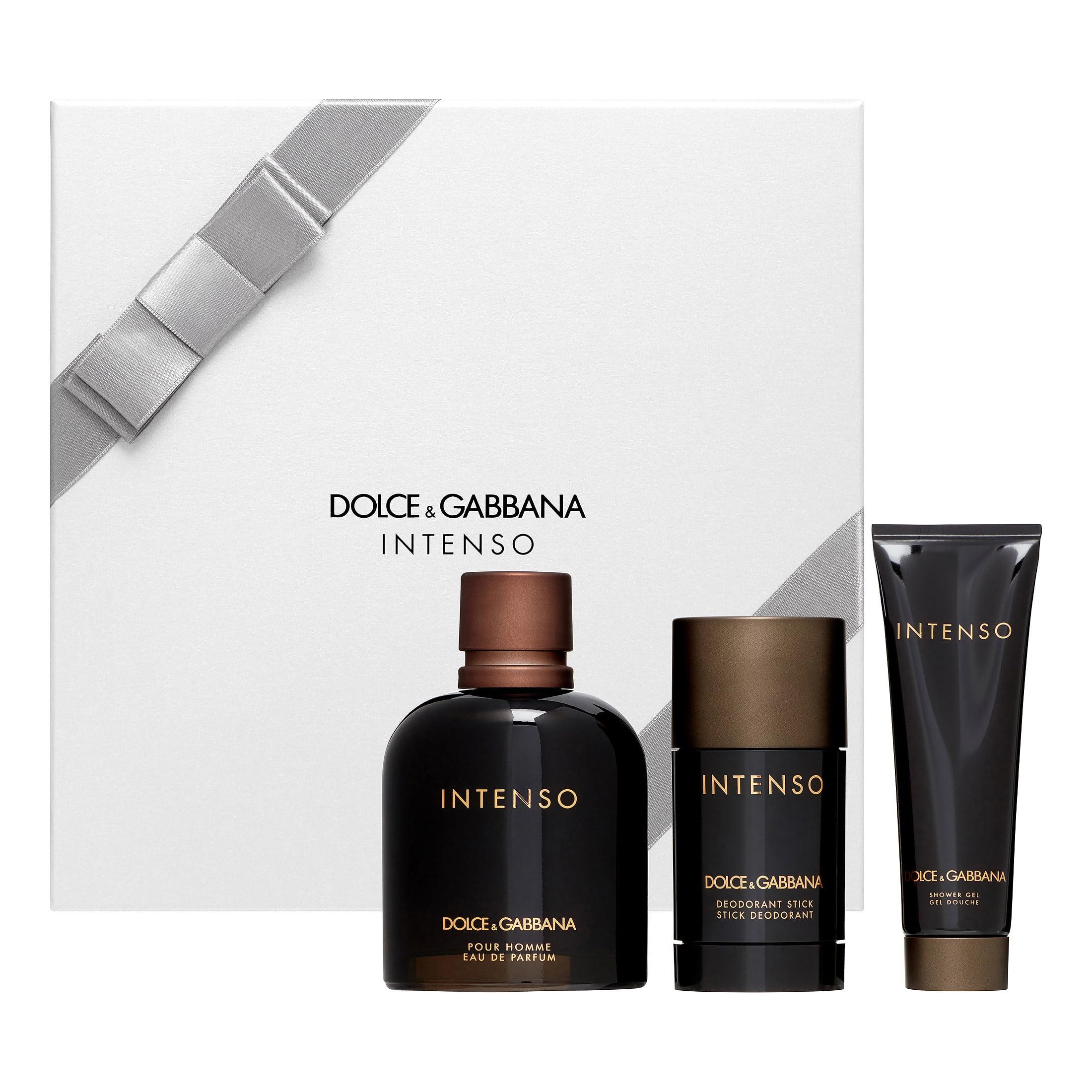 Dolce & Gabbana Intenso by Dolce & Gabbana for Men 3 Pc Gift Set 4.2oz EDP Spray, 1.6oz Shower Gel, 2.4oz Deodorant Stick