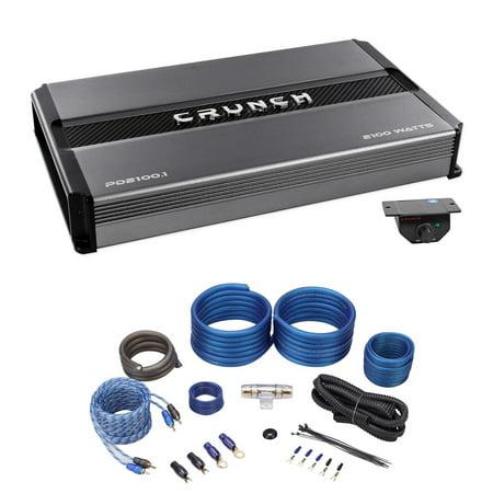 Crunch PD2100 1 2100 Watt Mono Car Stereo Amplifier Class AB Pro Power+Amp  Kit