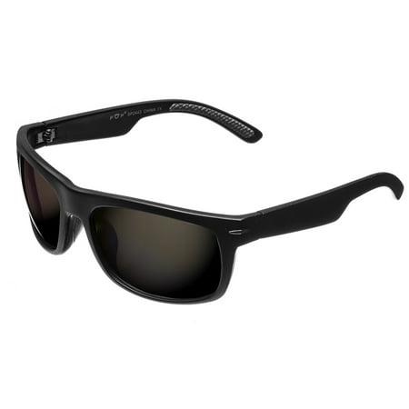 Lightweight Matte Black UV400 Polarized Driving Sunglasses 2443