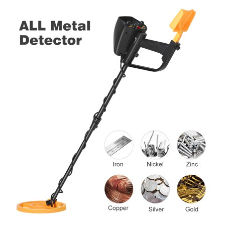 WELQUIC Metal Detector Pinpointer with High Accuracy VLF Technology and Discrimination Mode Waterproof for Gold Nugget Prospecting Relics Coins Jewelry Hunting(Black &