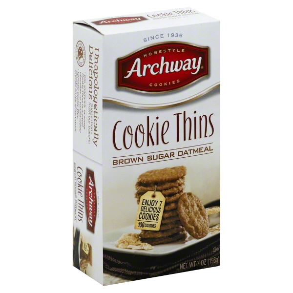 Archway Brown Sugar Oatmeal Cookie Chips, 7 Oz.