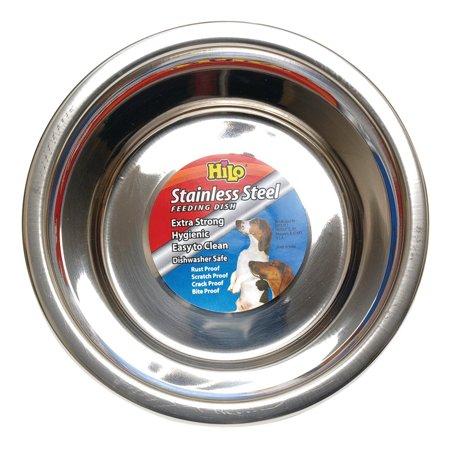 Boss Pet 56620 Hilo Pet Feeding Bowls, Stainless Steel, 2 Qt - Hi Flo Stainless Steel Header