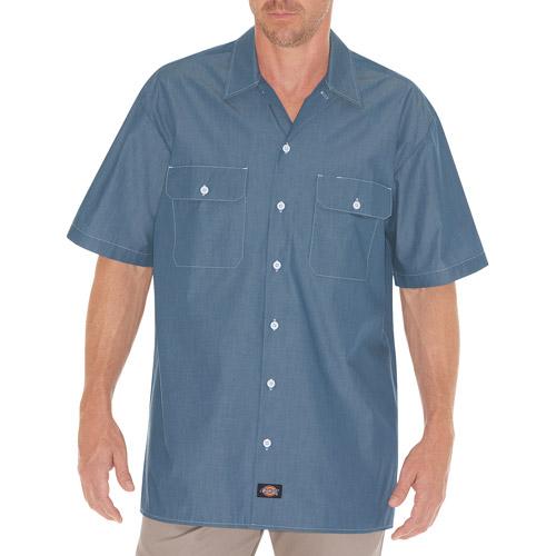 Dickies Big Men's Short Sleeve Chambray Shirt