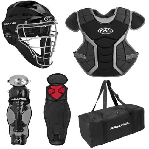 Rawlings RCS1215 Age 12-15 Renegade Catcher's Set (Black/Silver)