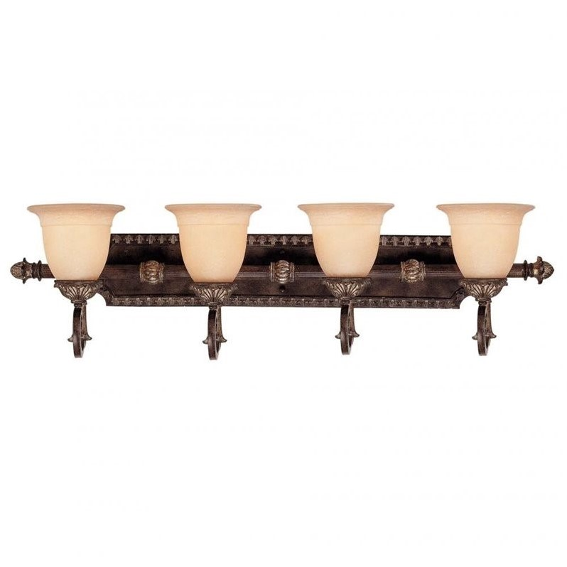 Savoy House Grenada 4 Light Bath Bar in Moroccan Bronze