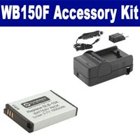 Samsung WB150F Digital Camera Accessory Kit includes: SDSLB10A Battery, SDM-1501 Charger