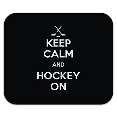 Keep Calm And Hockey On Sports Mouse Pad