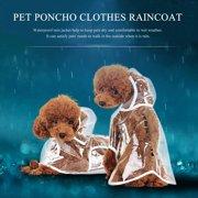 Foldable Transparent Raincoat Rainwear Poncho Clothes Dress for Dog Pet