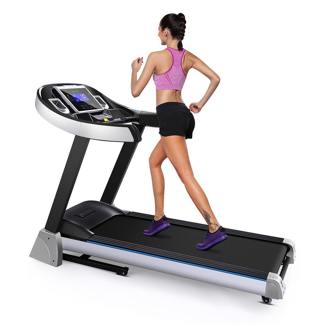 Electric Folding Treadmill Health Fitness with 4.5HP Comm...