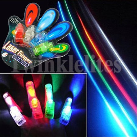 Light Up Ring (48 Finger Lights Beams Lamps Party Favors Laser Light Up Kids Gifts Glow)