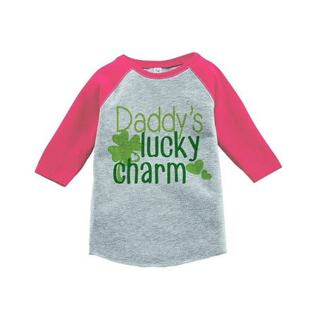 Custom Party Shop Girls' St. Patrick's Day Vintage Baseball Tee - Pink / Small Youth (6-8) T-shirt