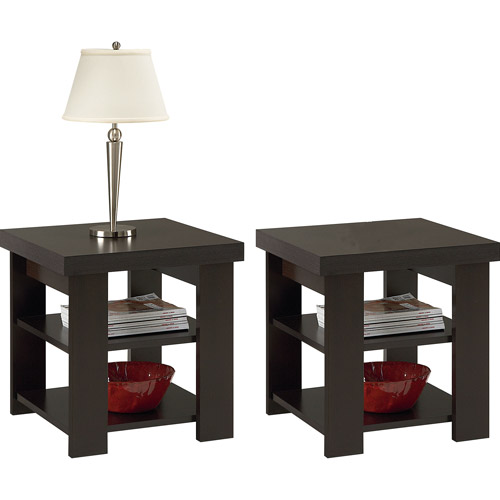Larkin Espresso End Tables - Value Bundle