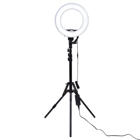 Goplus 12'' LED SMD Ring Light Flash Video Light w Plastic Color Filter Set Stand Bag](Flashing Ring)