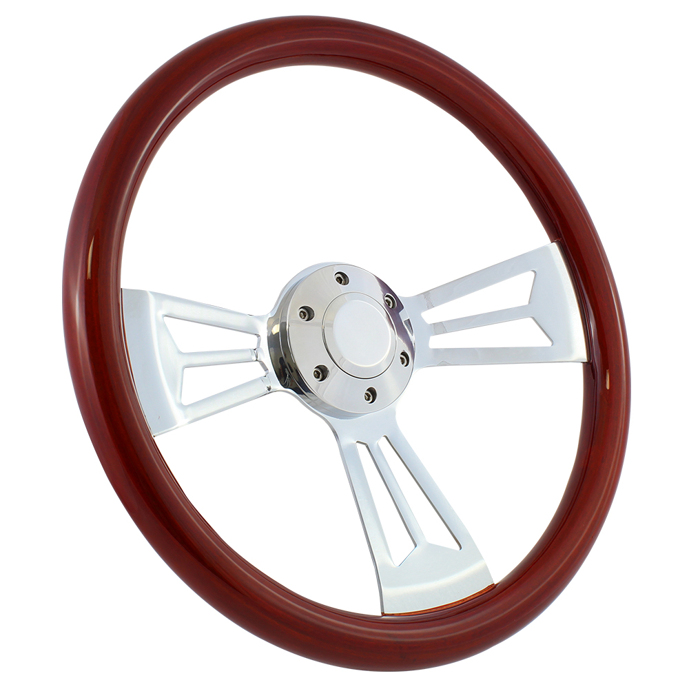 "67 Chevrolet Camaro 15"" Wood Billet Polished Steering Wheel Set Adapter & Horn"