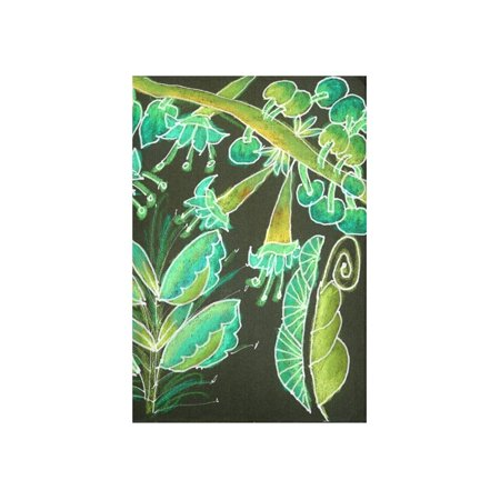 CADecor Irish Garden, Lime Green Flowers Dance in Joy Wall Tapestry Wall Hanging Wall Art Home Decor 40x60 (Irish Wall Tapestry)