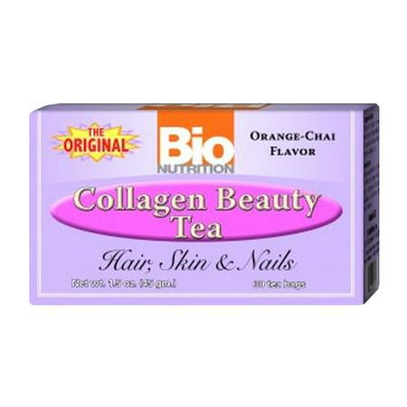 - Bio Nutrition The Original Collagen Beauty Tea Bags, Orange Chai Flavor, 30 Ea