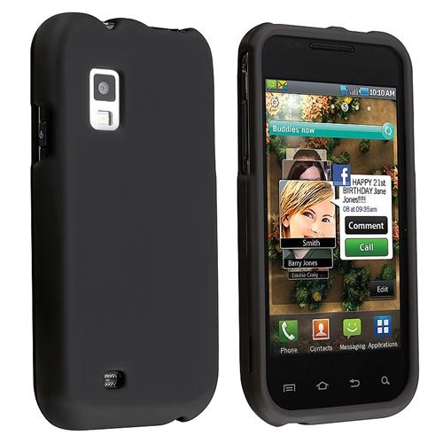 INSTEN Snap-on Rubber Coated Case For Samsung Fascinate / Galaxy S CDMA, Black