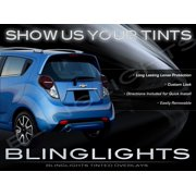 Chevy Spark Murdered Out Taillight Overlays Chevrolet Tinted Lense Film Protection Kit