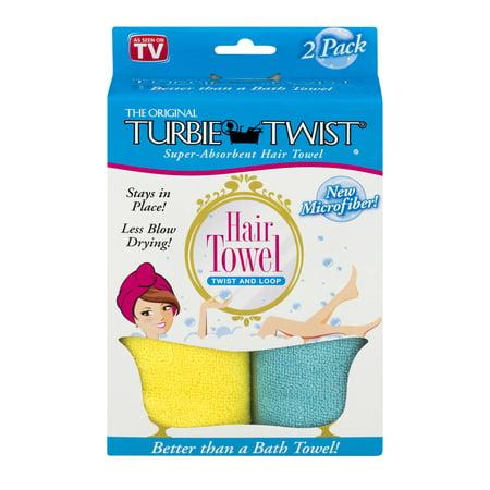 Alert The Original Turbie Twist Aqua Cotton Flower Print One Towel And One White Band Baby