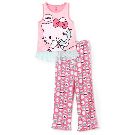 Hello Kitty Big Girls' 2pc Sleepwear Tank Set - image 3 of 4