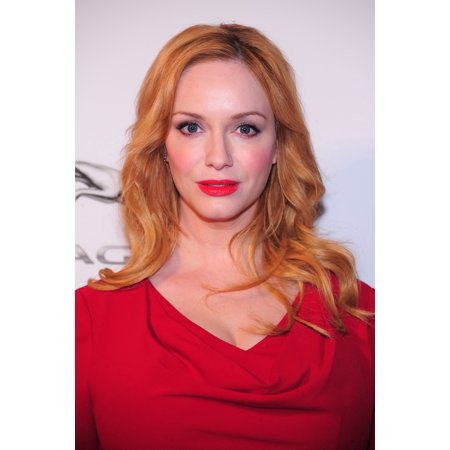 Christina Hendricks At Arrivals For Jaguar Land Rover Preview For New York Auto Show Center548 New York Ny March 31 2015 Photo By Gregorio T BinuyaEverett Collection Photo Print