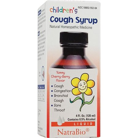 NatraBio Children's Cough Syrup, Cherry Berry, 4 Fl Oz