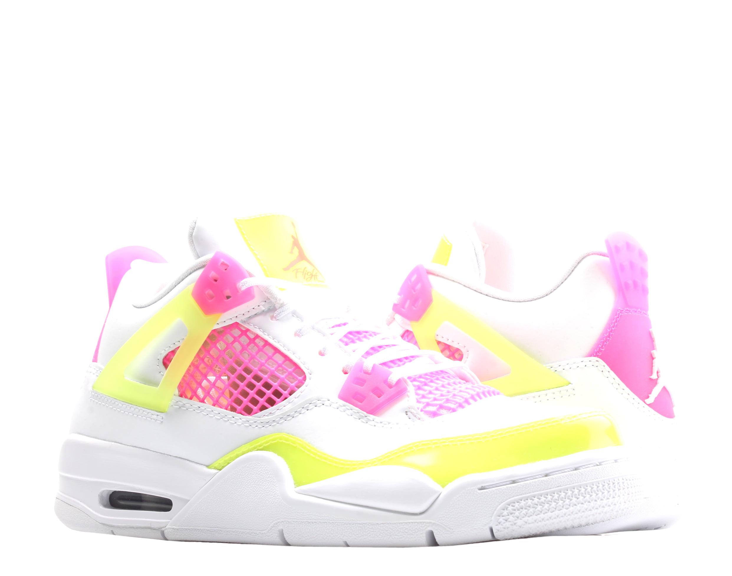Jordan - Nike Air Jordan 4 Retro SE (GS) White/Lemon-Pink Big Girls Shoes CV7808-100 - Walmart.com
