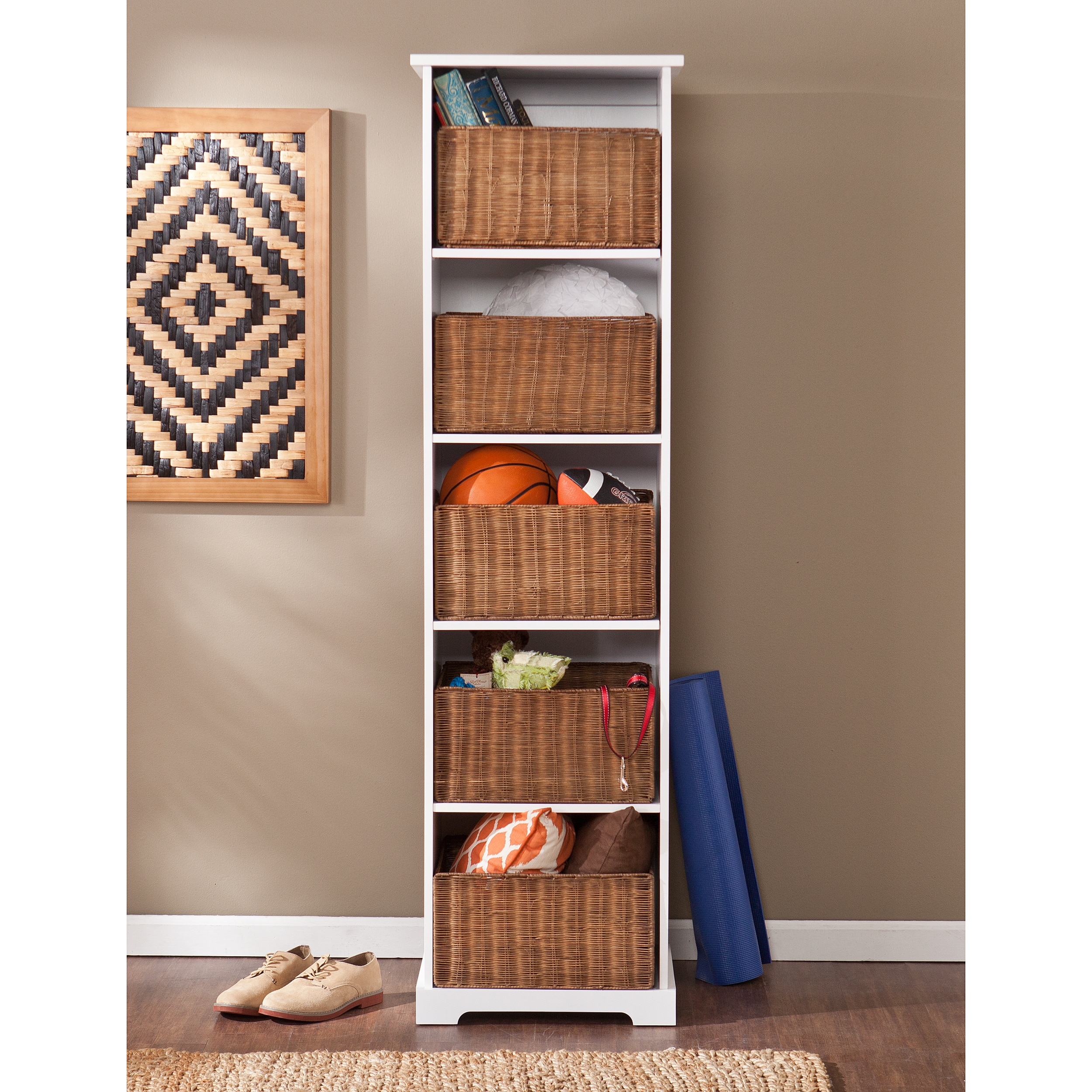 Harper Blvd  Lima White Entryway Storage Cubby OS8104