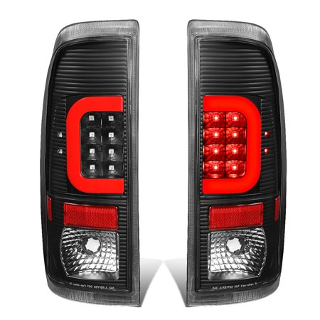 Ford F550 Super Duty Tail (For 2008 to 2016 Ford F250 F350 F450 F550 Super Duty Black Housing Clear Lens Red 3D LED Tail Lights )
