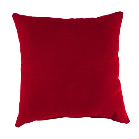 Mainstays Solid Red Outdoor Patio Dining Seat Back Pillow