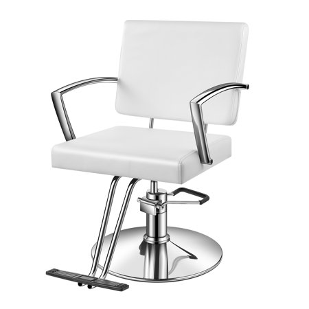Surprising Baasha White Salon Chair With Hydraulic Pump Footrest Armrest Thick Foam Seat Headrest Hydraulic Salon Chair White Barber Chair All Purpose Bralicious Painted Fabric Chair Ideas Braliciousco