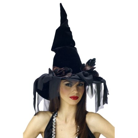 Deluxe Winding Adult Halloween Witch Hat](Halloween Pics Of Witches)
