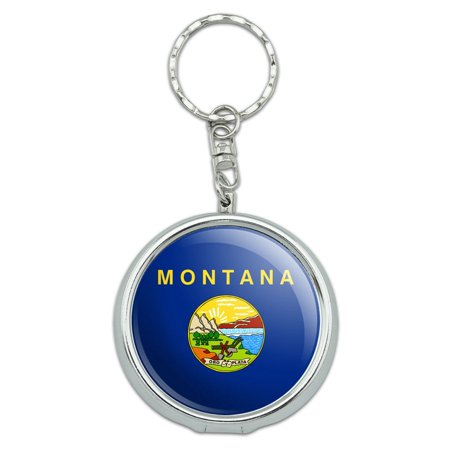 Montana State Flag Portable Ashtray Keychain