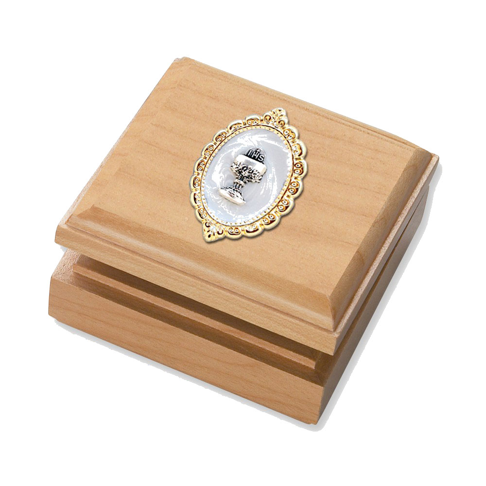 Goldia Maple Keepsake Box - Perfect First Communion Gift